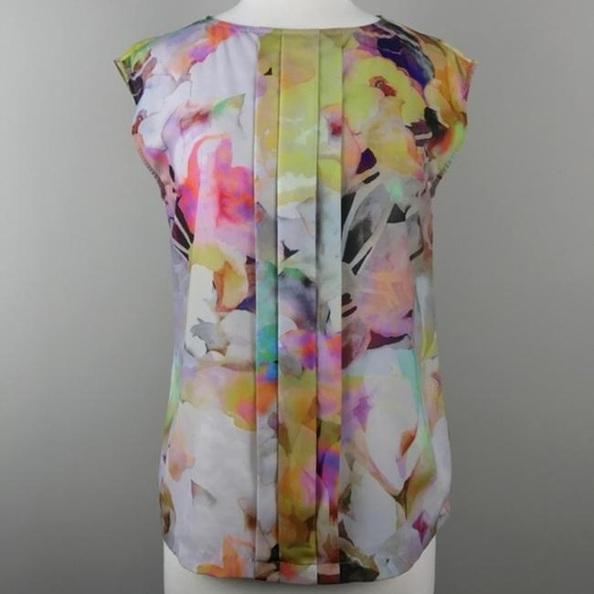 Ted Baker Floral Sleeveless Electric Day Dream Pleated Top Image 1