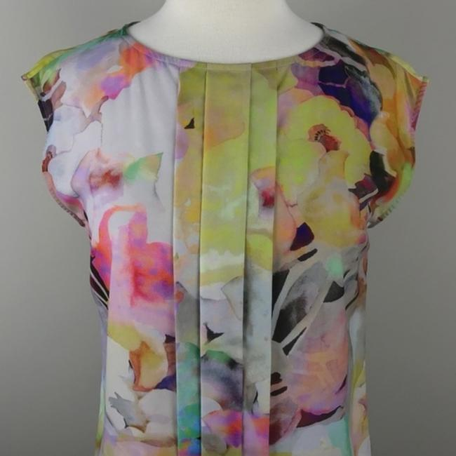 Ted Baker Floral Sleeveless Electric Day Dream Pleated Top Image 2