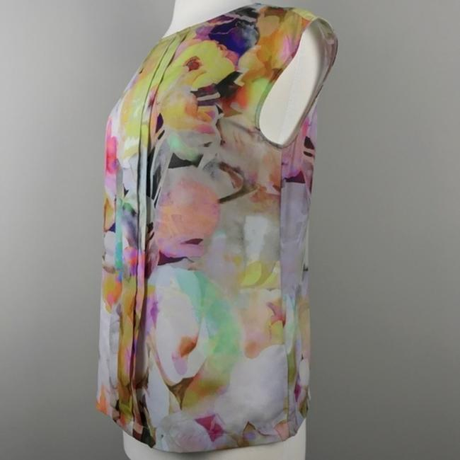 Ted Baker Floral Sleeveless Electric Day Dream Pleated Top Image 3