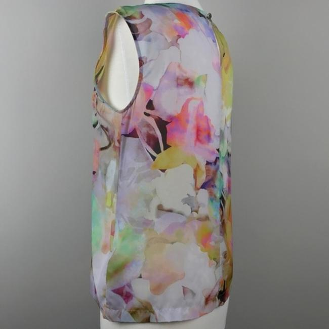 Ted Baker Floral Sleeveless Electric Day Dream Pleated Top Image 4