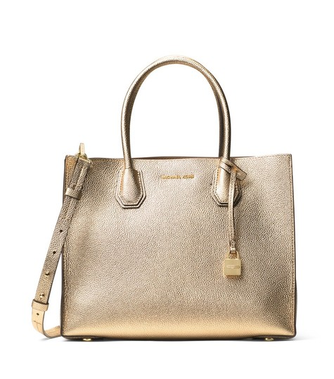 Preload https://img-static.tradesy.com/item/25618536/michael-michael-kors-bag-mercer-convertible-pale-gold-leather-tote-0-0-540-540.jpg