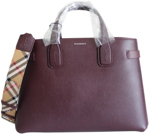 Burberry Banner Vintage Check Mahogany Red Satchel in Brown
