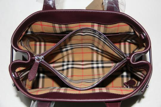 Burberry Banner Vintage Check Mahogany Red Satchel in Brown Image 11