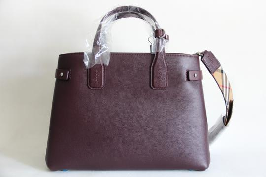 Burberry Banner Vintage Check Mahogany Red Satchel in Brown Image 4