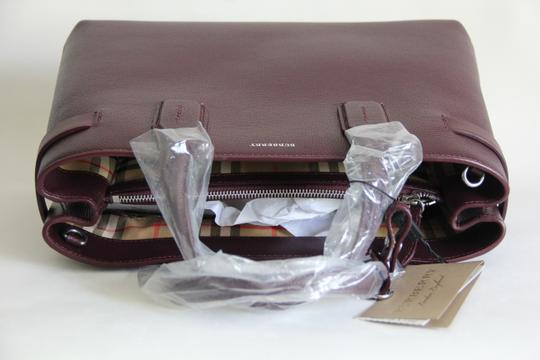 Burberry Banner Vintage Check Mahogany Red Satchel in Brown Image 8
