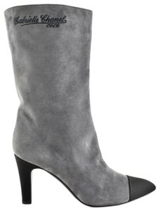 Chanel Gabrielle Stiletto Ankle Midcalf Grey Boots