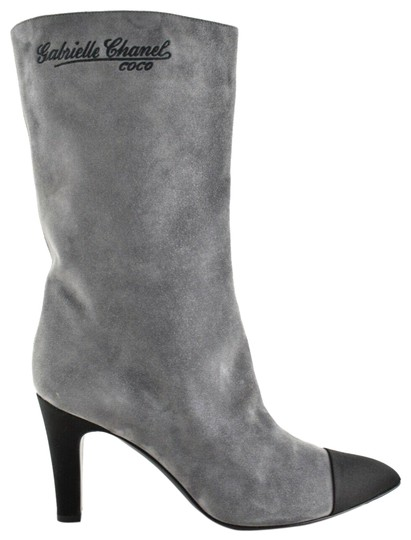 Chanel Gabrielle Stiletto Ankle Midcalf Grey Boots Image 0