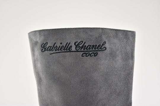 Chanel Gabrielle Stiletto Ankle Midcalf Grey Boots Image 2