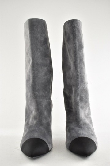 Chanel Gabrielle Stiletto Ankle Midcalf Grey Boots Image 3