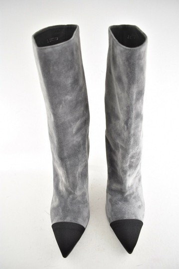 Chanel Gabrielle Stiletto Ankle Midcalf Grey Boots Image 4