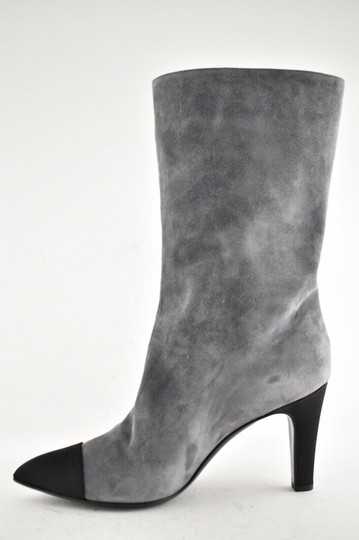 Chanel Gabrielle Stiletto Ankle Midcalf Grey Boots Image 5