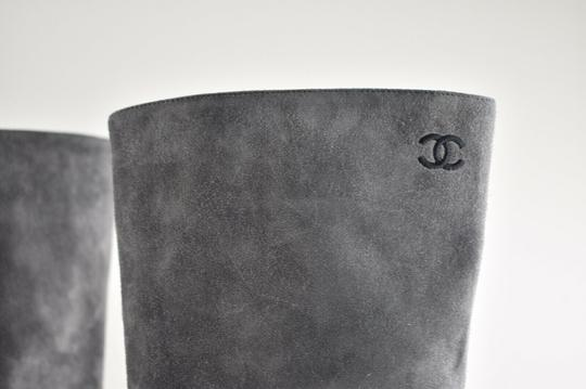 Chanel Gabrielle Stiletto Ankle Midcalf Grey Boots Image 7