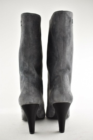 Chanel Gabrielle Stiletto Ankle Midcalf Grey Boots Image 8
