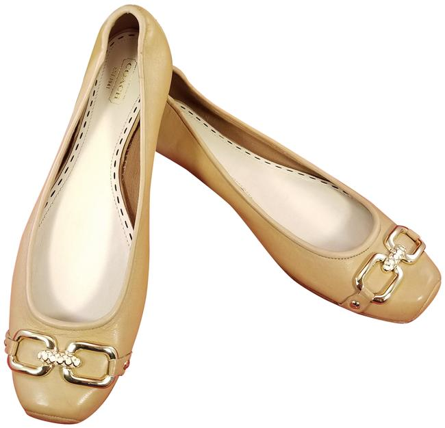 Item - Beige(Tan) Box New In A2028 Pollie Soft Leather Ballet Tan Flats Size US 7.5 Regular (M, B)