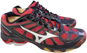 Mizuno Volleyball Woman Wave Lightning Rx2 Woman Size 11 black and RED Athletic