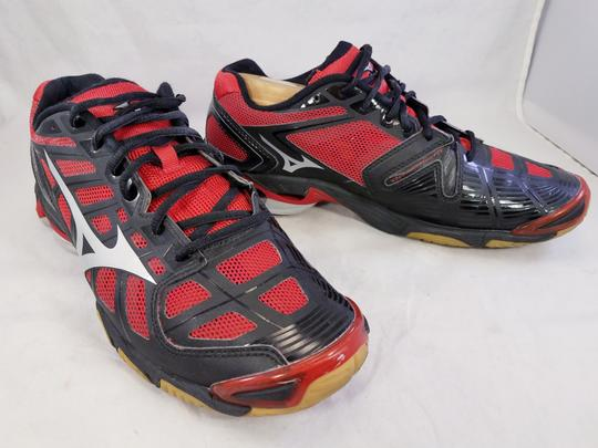 Mizuno Volleyball Woman Wave Lightning Rx2 Woman Size 11 black and RED Athletic Image 1