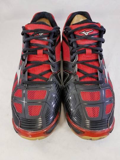 Mizuno Volleyball Woman Wave Lightning Rx2 Woman Size 11 black and RED Athletic Image 2