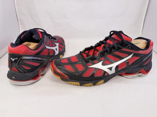 Mizuno Volleyball Woman Wave Lightning Rx2 Woman Size 11 black and RED Athletic Image 4