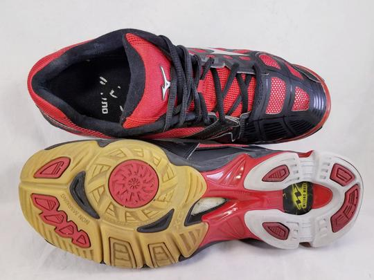 Mizuno Volleyball Woman Wave Lightning Rx2 Woman Size 11 black and RED Athletic Image 7