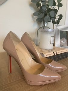 Christian Louboutin Patent Leather Classic Nude Pumps