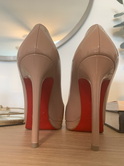 Christian Louboutin Patent Leather Classic Nude Pumps Image 2