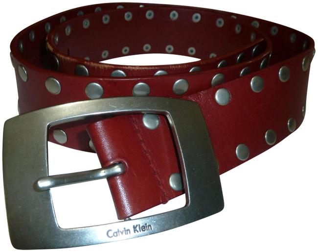 Item - Red Wide Leather Extra Large Belt