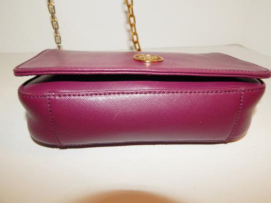 Tory Burch Gold Chain Saffiano Leather Cross Body Bag Image 4