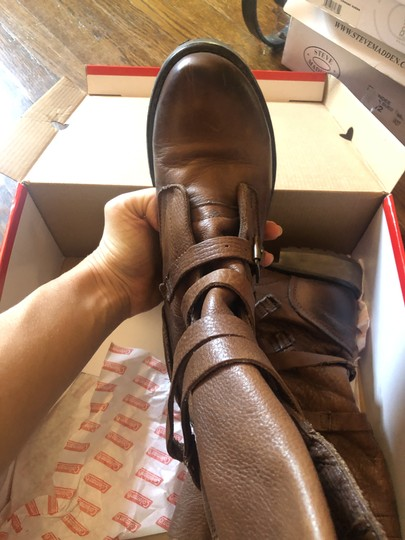 Steve Madden Faux Leather brown Boots Image 3