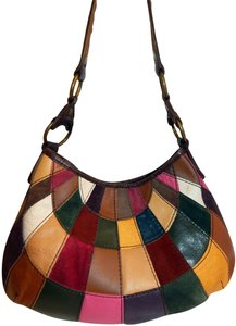 Lucky Brand Patchwork Suede Leather Shoulder Bag