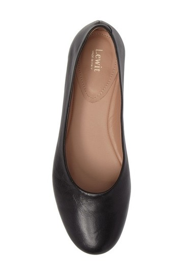 Lewit Leather Comfortable Classic Black Flats Image 1