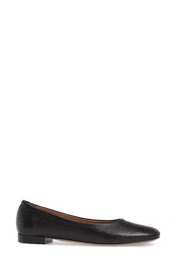 Lewit Leather Comfortable Classic Black Flats Image 2