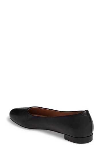 Lewit Leather Comfortable Classic Black Flats Image 3