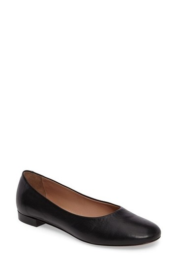 Lewit Leather Comfortable Classic Black Flats Image 4
