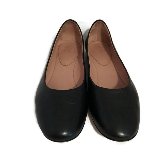 Lewit Leather Comfortable Classic Black Flats Image 5