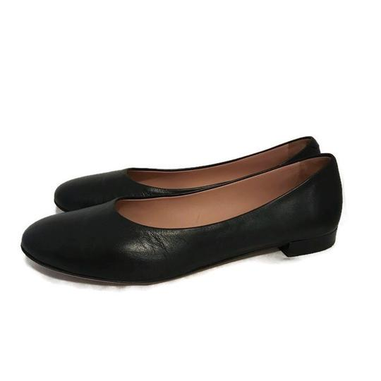 Lewit Leather Comfortable Classic Black Flats Image 7