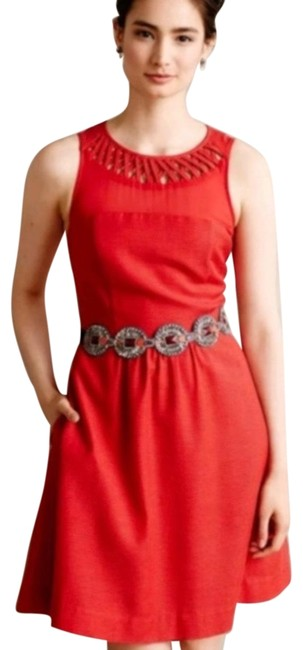 Preload https://img-static.tradesy.com/item/25618985/maeve-red-lattice-neck-fit-and-flare-workoffice-dress-size-6-s-0-1-650-650.jpg