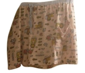Other Sleep Wear Garfield Cartoons Plus Size Shorts peach with a blue elastic/gum waist