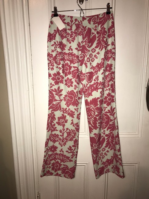 New Frontier Wide Leg Pants Pink and Shell (off-white) Image 5