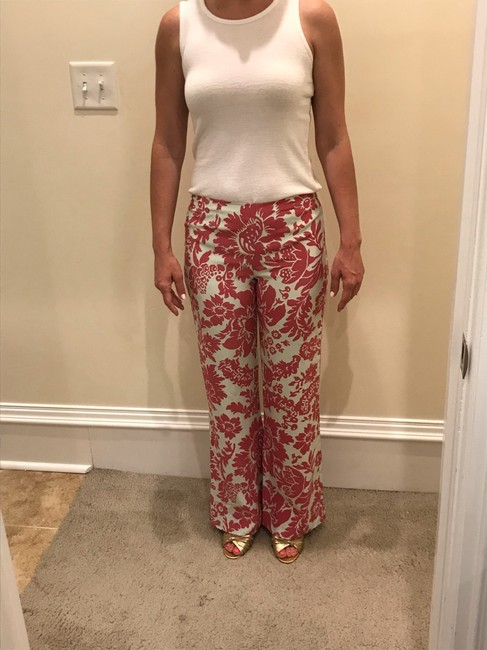 New Frontier Wide Leg Pants Pink and Shell (off-white) Image 7