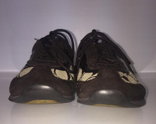 Coach Suede Flat Monogram Brown and tan Athletic Image 1