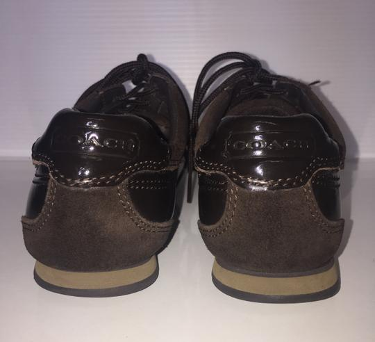 Coach Suede Flat Monogram Brown and tan Athletic Image 2