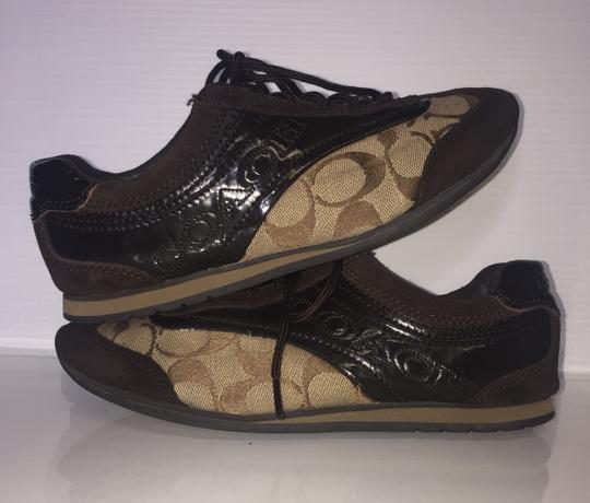 Coach Suede Flat Monogram Brown and tan Athletic Image 3