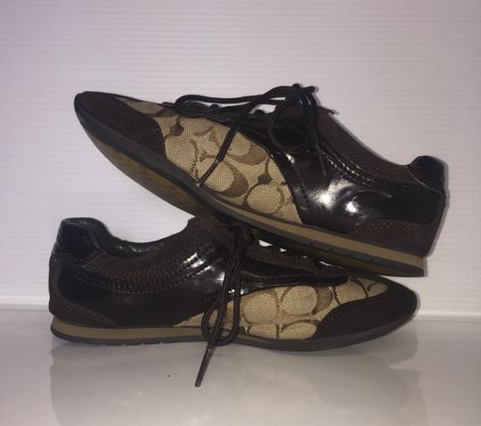 Coach Suede Flat Monogram Brown and tan Athletic Image 4