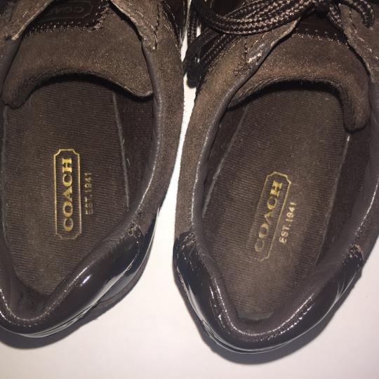 Coach Suede Flat Monogram Brown and tan Athletic Image 6