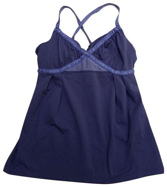 Item - Blue Tank with Built-in Bra Activewear Top Size 6 (S)