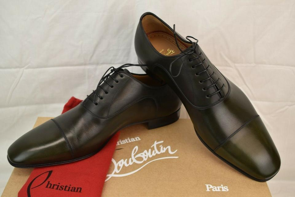 online store 90ecf 07c0e Christian Louboutin Green Greggo Flat Tyrol Leather Lace Up Oxfords 42.5  9.5 Italy Shoes 27% off retail