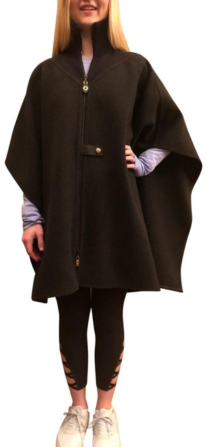 Item - Charcoal Grey Cashmere Poncho/Cape Size 4 (S)