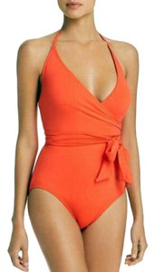 Vince Camuto Surf Shades V-Neck Wrap Tie One Piece V44585