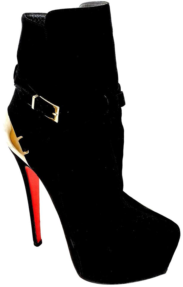 3bb1a138afc Christian Louboutin Black Equestria 160mm Suede Boots/Booties Size EU 37  (Approx. US 7) Regular (M, B) 63% off retail