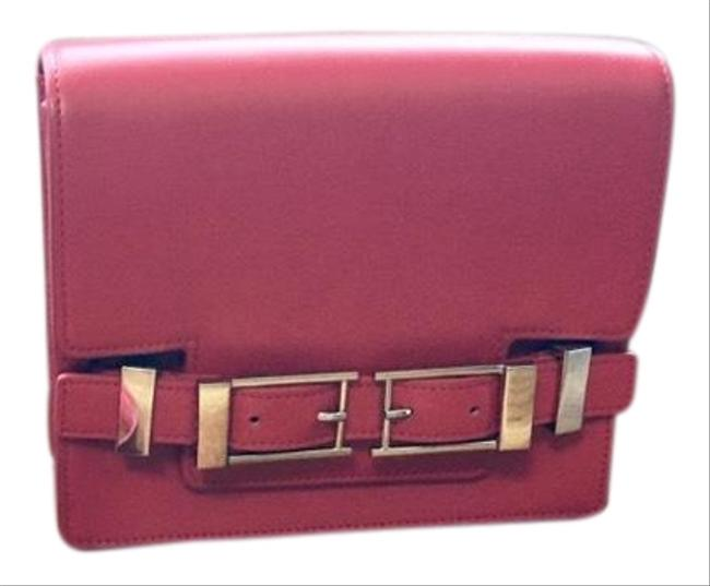 Item - Davenport In & Nickle Red Leather Cross Body Bag